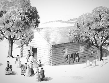 An artist's sketch of St. Mary of the Assumption Church, Coffee Run, Delaware, 1790